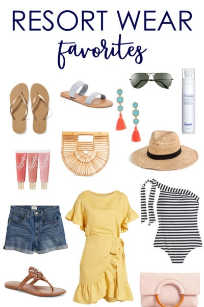 Great ideas for what to back on a beach vacation. Excellent resort wear favorites and tips!