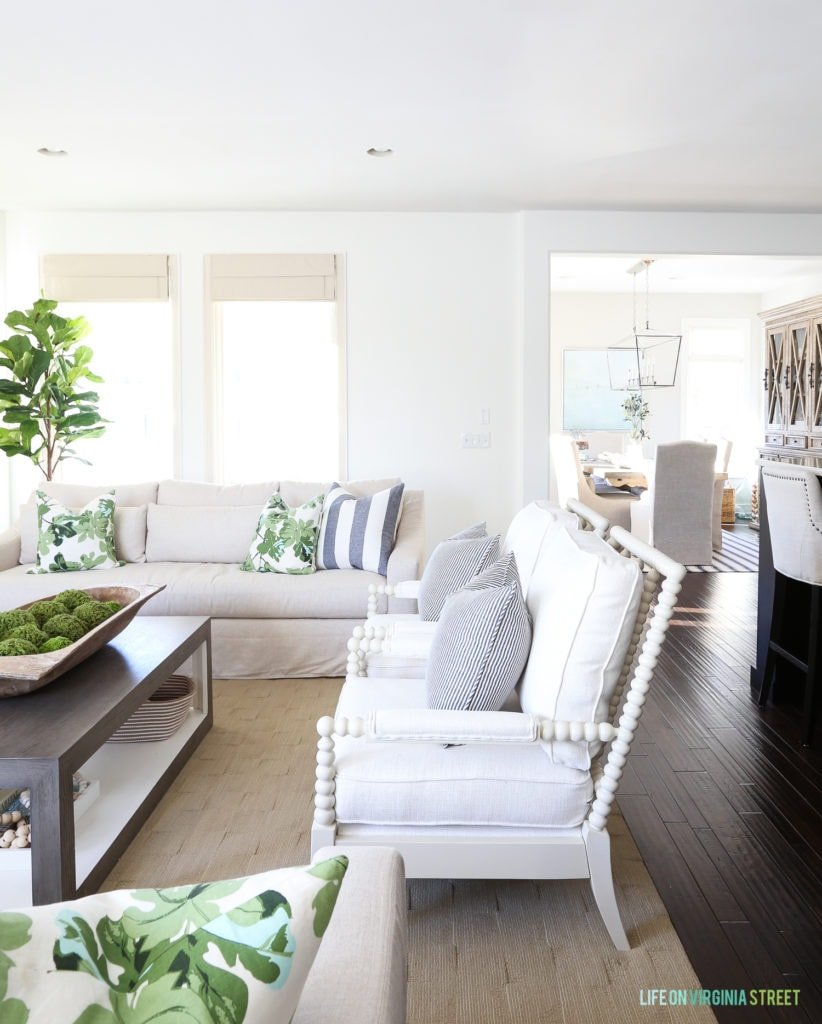 Excellent Tips To Transition Your Decor From Christmas Winter White Living Room With