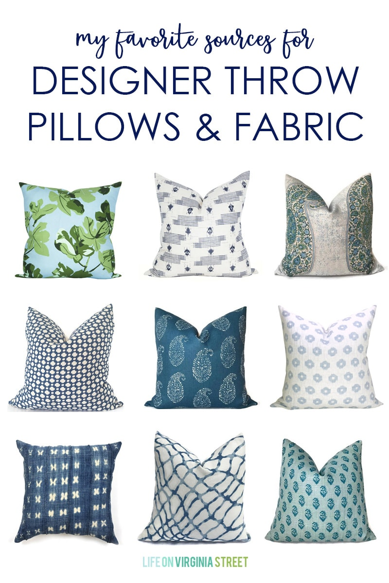 My Favorite Sources for Designer Throw Pillows & Fabric - Life On ...