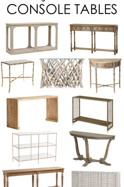 Coastal Modern Console Tables