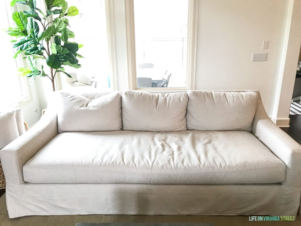 Brilliant Pottery Barn York Sofa Review Life On Virginia Street Theyellowbook Wood Chair Design Ideas Theyellowbookinfo