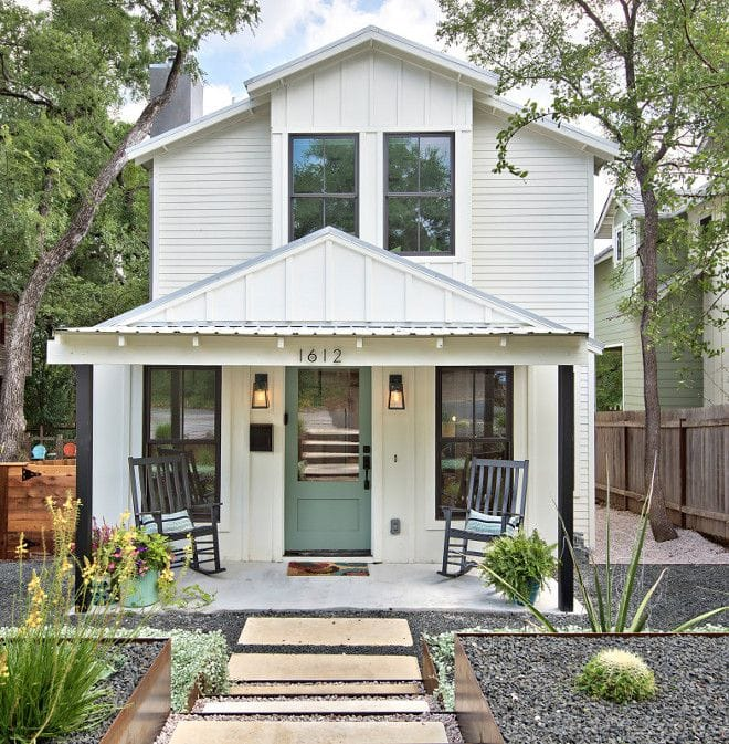The Best Exterior White Paint Colors For House This Modern Farmhouse Style Home Is Painted