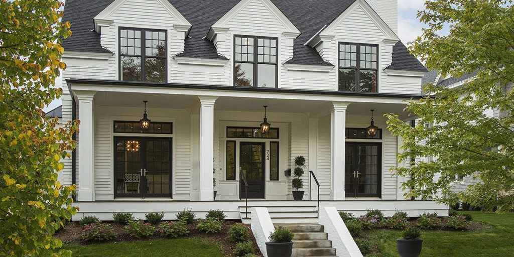 The best exterior white paint colors life on virginia street - Benjamin moore white dove exterior ...