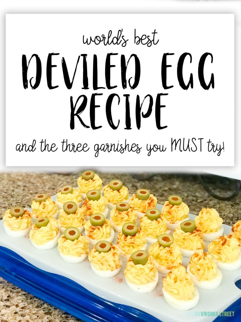 Worlds best deviled egg recipe and the garnishes you must try poster.