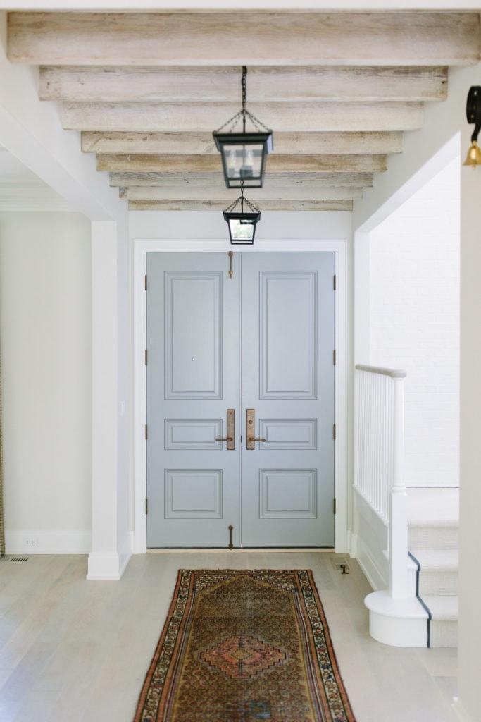 Benjamin Moore Cape May Cobblestone Interior Door via Kate Marker Interiors