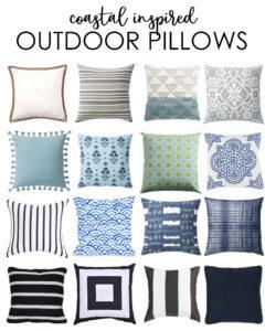 Coastal Inspired Outdoor Pillows