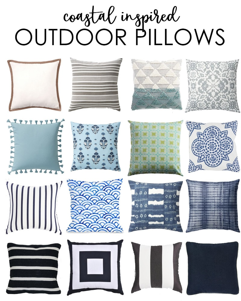 Coastal Inspired Outdoor Pillows