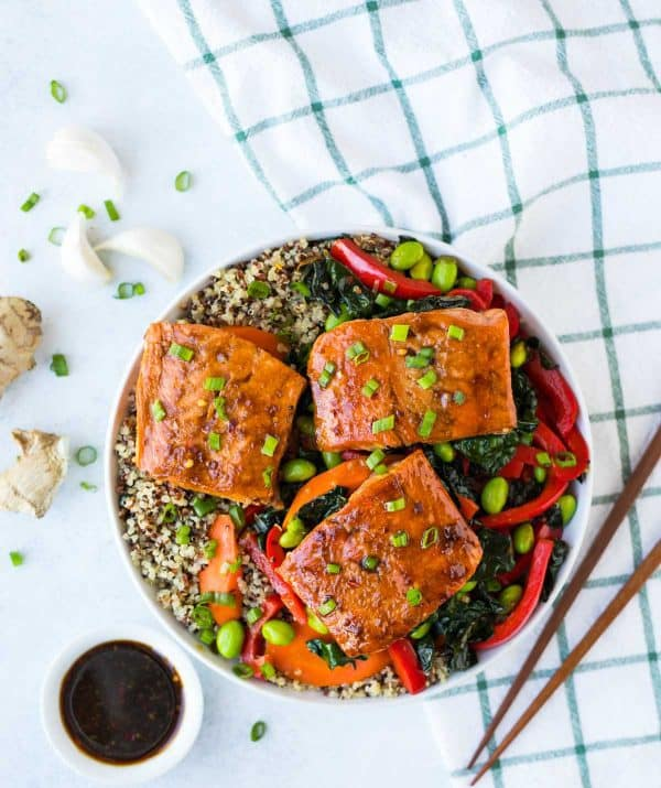 Teriyaki Salmon Quinoa Bowl Recipe