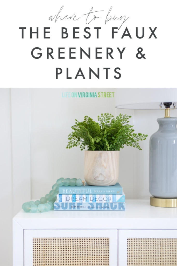 Sharing all the best places to buy faux greenery and plants, as well as tips on what to look for in order to have the best fake plants that are also the most realistic!