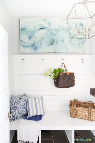 Mudroom Refresh & An Unexpected Source for Home Decor