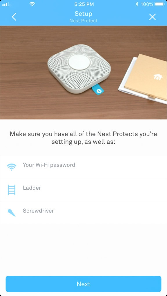 Learning to set up your Nest products.