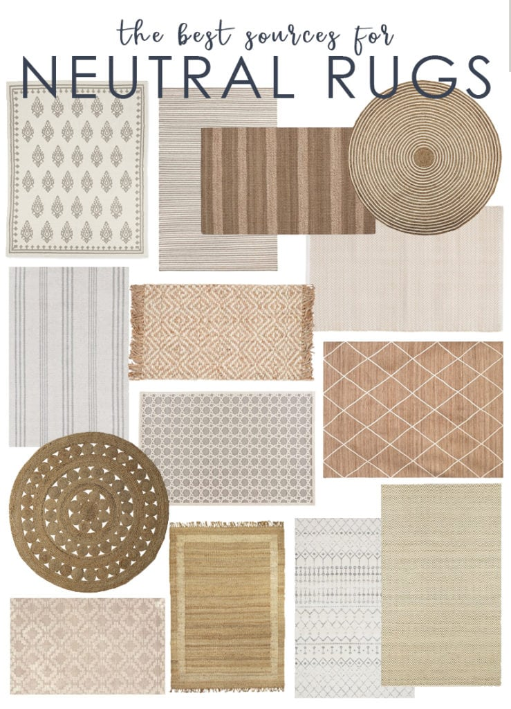 A collection of the best neutral rugs that are affordable and timeless. Also includes a list of the best sources and online rug stores.