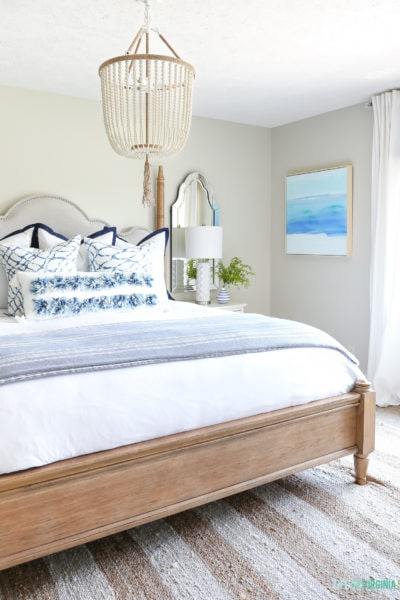 Beachy Guest Bedroom Reveal