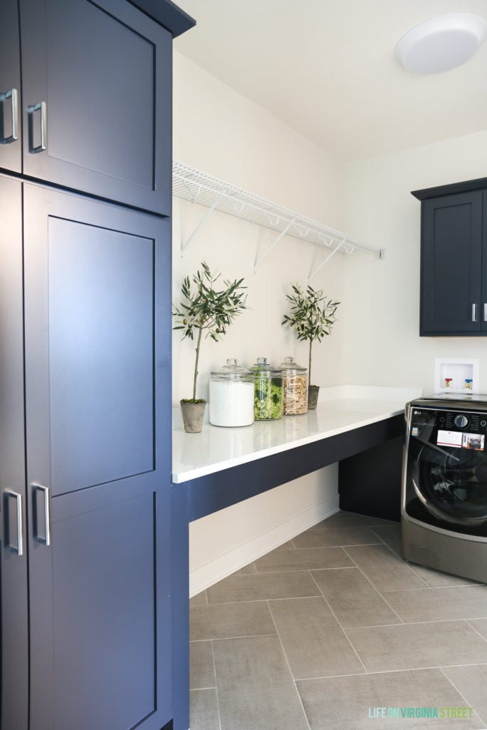 California modern farmhouse home tour life on virginia for Laundry room connected to master closet