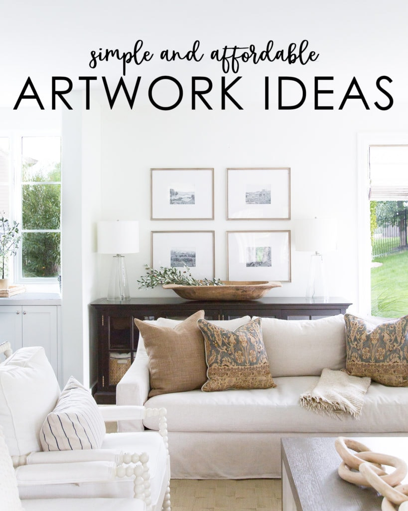 Excellent ideas for simple and affordable artwork ideas you can use in your home. Get instant impact with little cost!