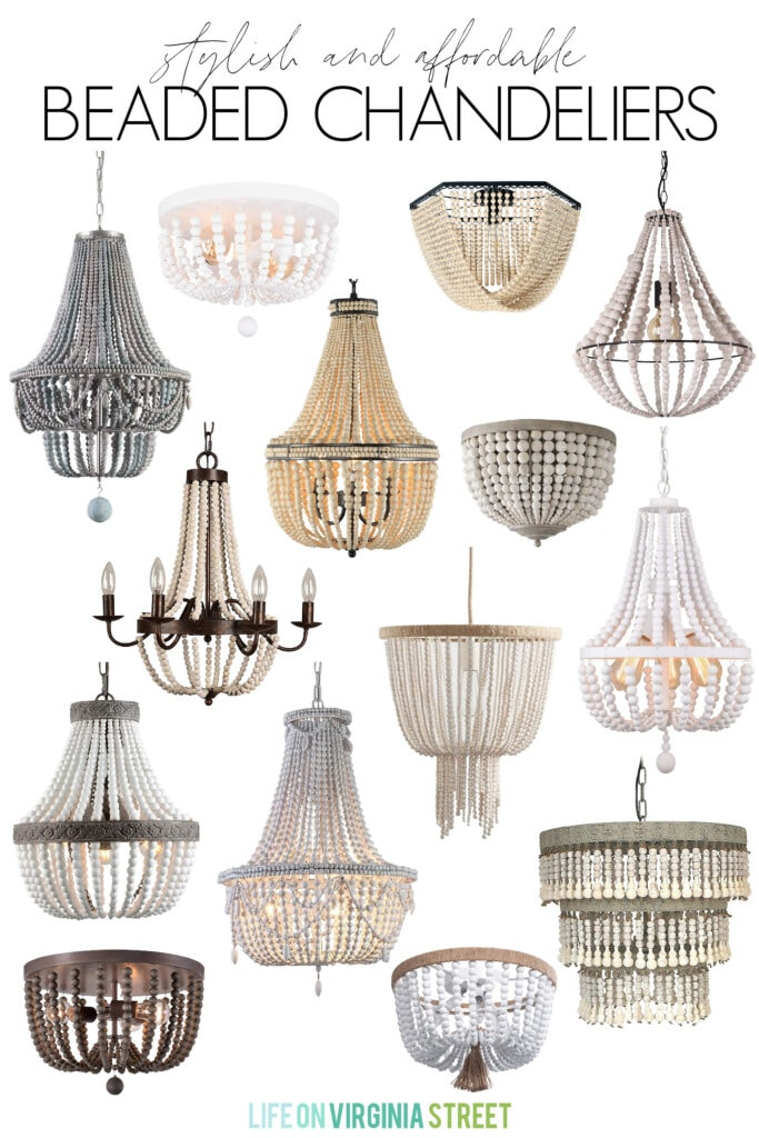 A collection of the most stylish and affordable beaded chandeliers and light fixtures.