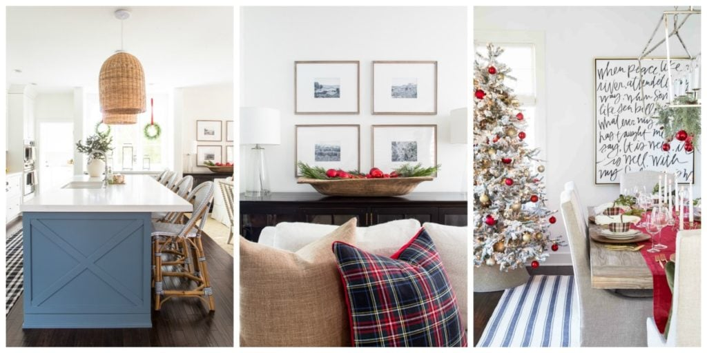 Cute ideas for use plaid Christmas decor during the holidays!