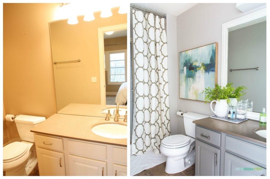 An Under 200 Coastal Bathroom Makeover Life On Virginia