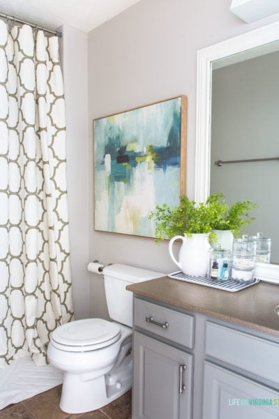 An Under $200 Coastal Bathroom Makeover