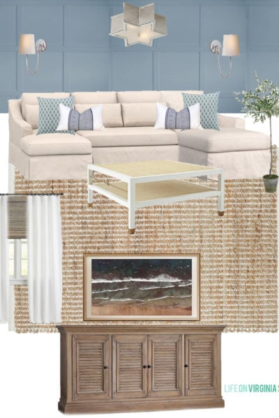 Our Den Design Plans and Why We Ordered a Pottery Barn Sectional