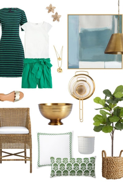 St. Patrick's Day Weekend Sales - the cutest green and gold finds for home and fashion!