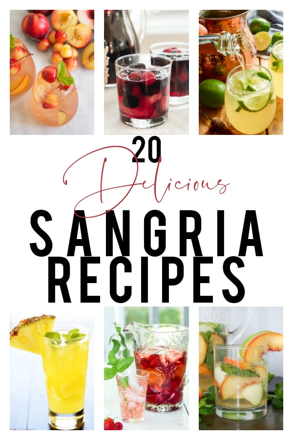 A collection of 20 delicious sangria recipes to try this summer! Perfect drink ideas with fresh fruit for warm summer days!