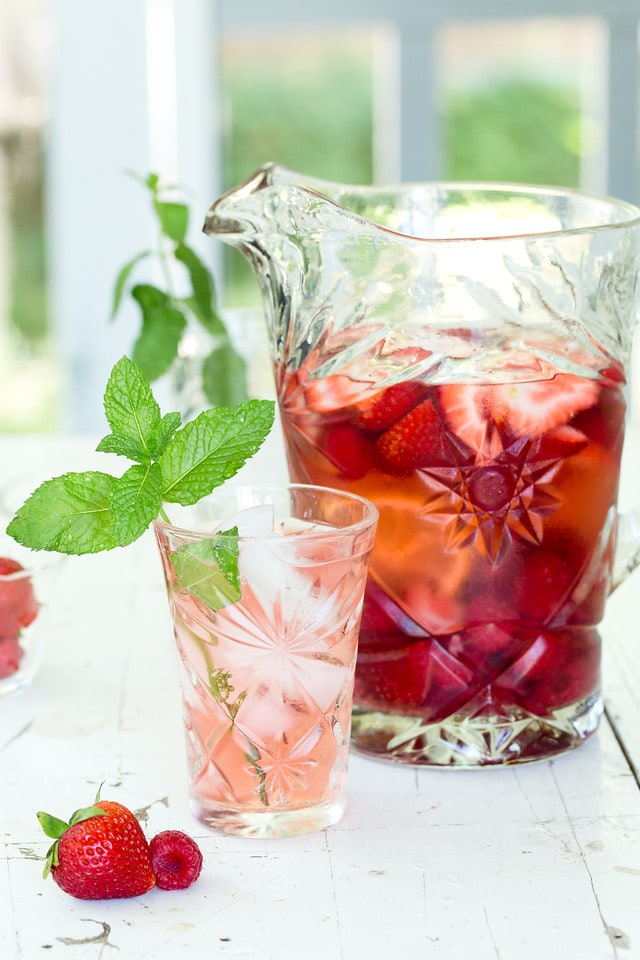 Strawberry Raspberry Rose Sangria