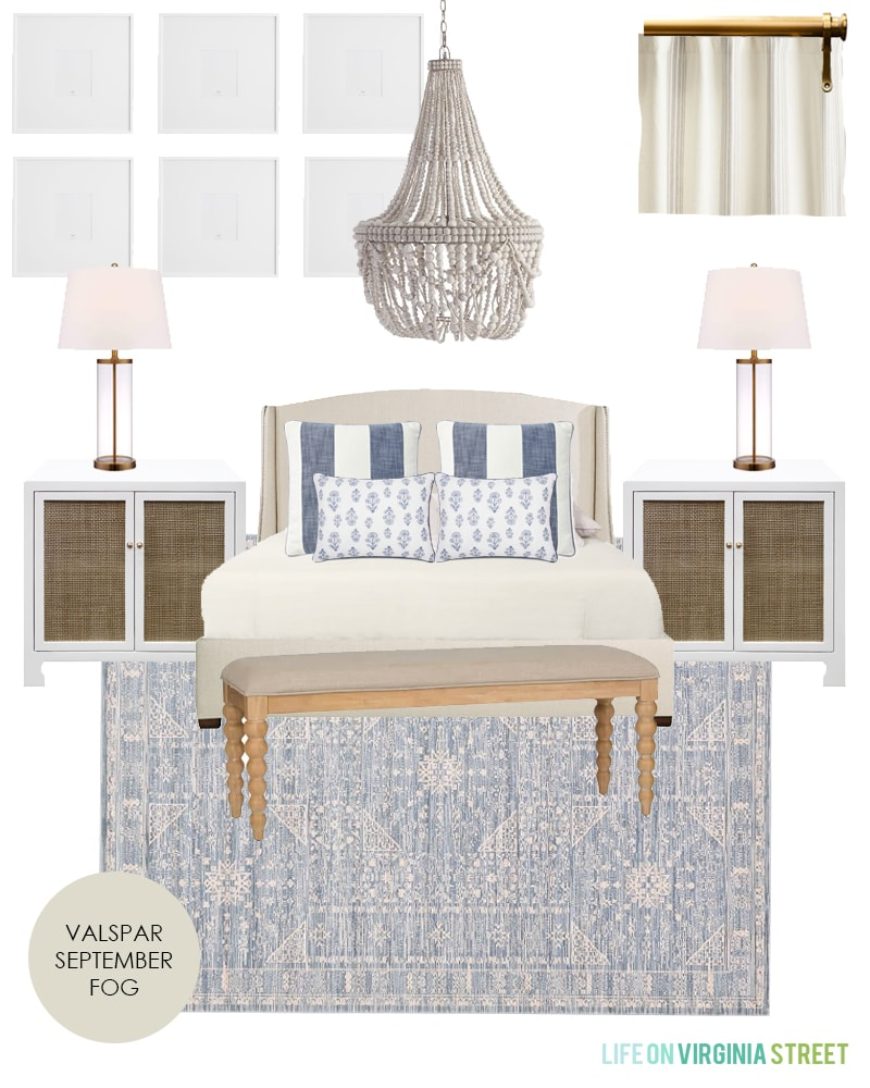 Master bedroom design plans for a coastal inspired natural and organic master bedroom retreat!