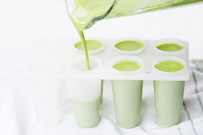 Green smoothie popsicle recipe