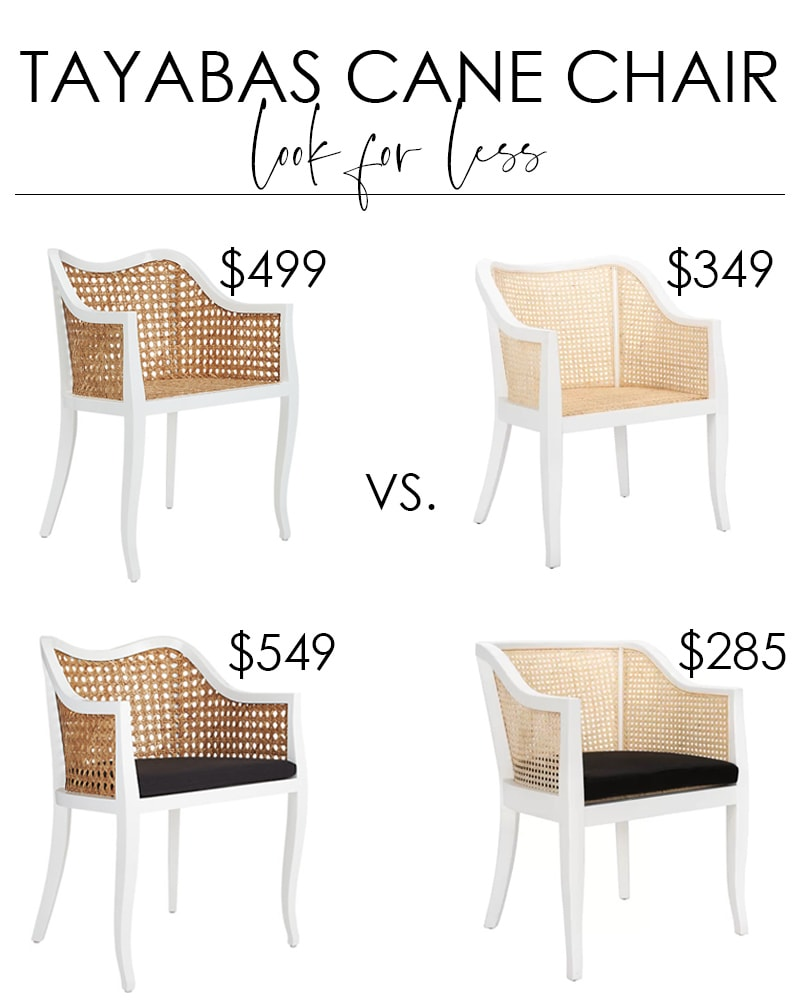 Tayabas Cane Chair look for less options. Two great finds for a fraction of the cost of the CB2 Tayabas Cane Side Chair that are perfect in your dining room or living space!