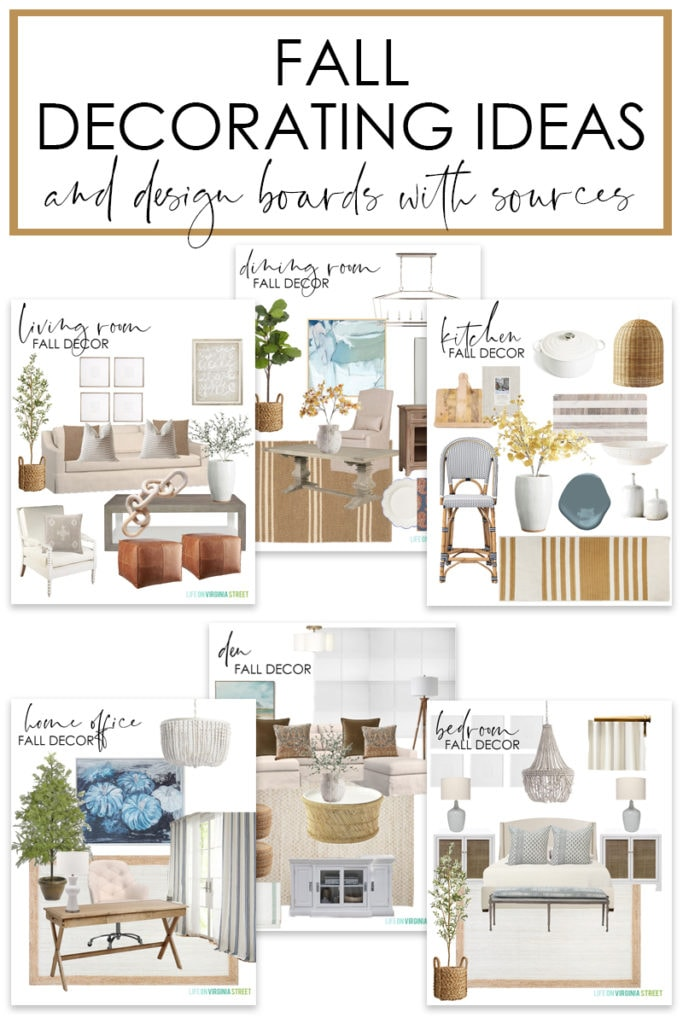 A collection of fall decorating ideas and mood boards (with sources!) for every room in your home!