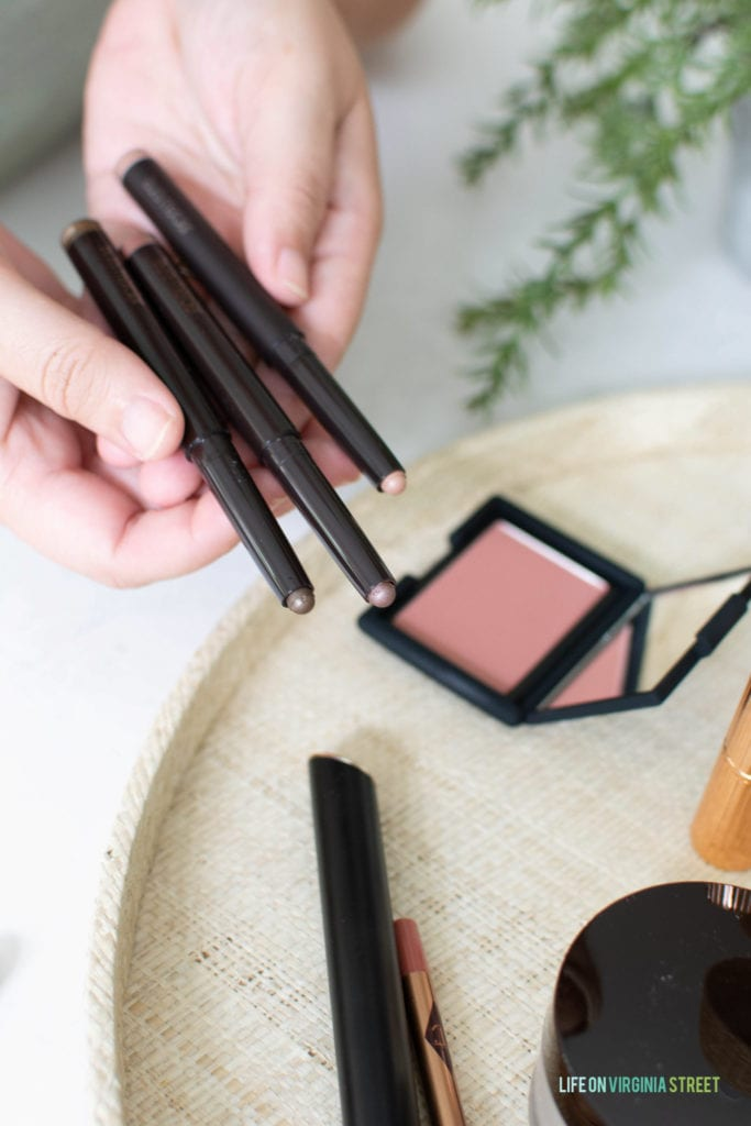 Charlotte Tilbury Caviar Sticks are the perfect eyeshadow to use for this five minute makeup routine!