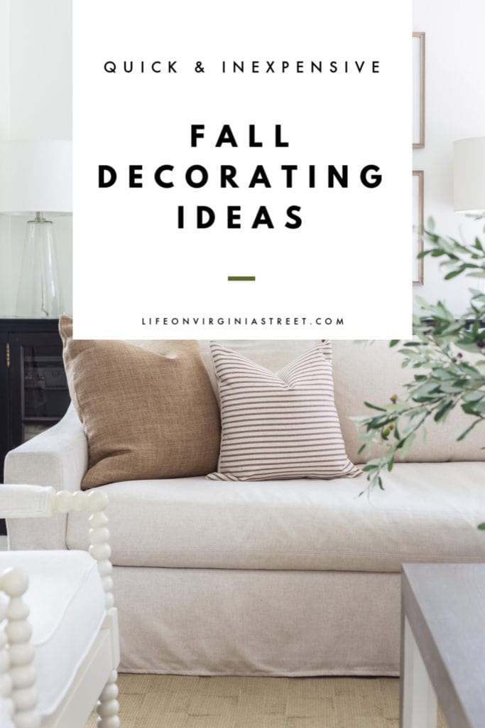 Quick and inexpensive fall decorating ideas are great for bringing the autumn spirit to your home without having to spend a lot of money or time! Simple fall home decor ideas and tips you'll love!