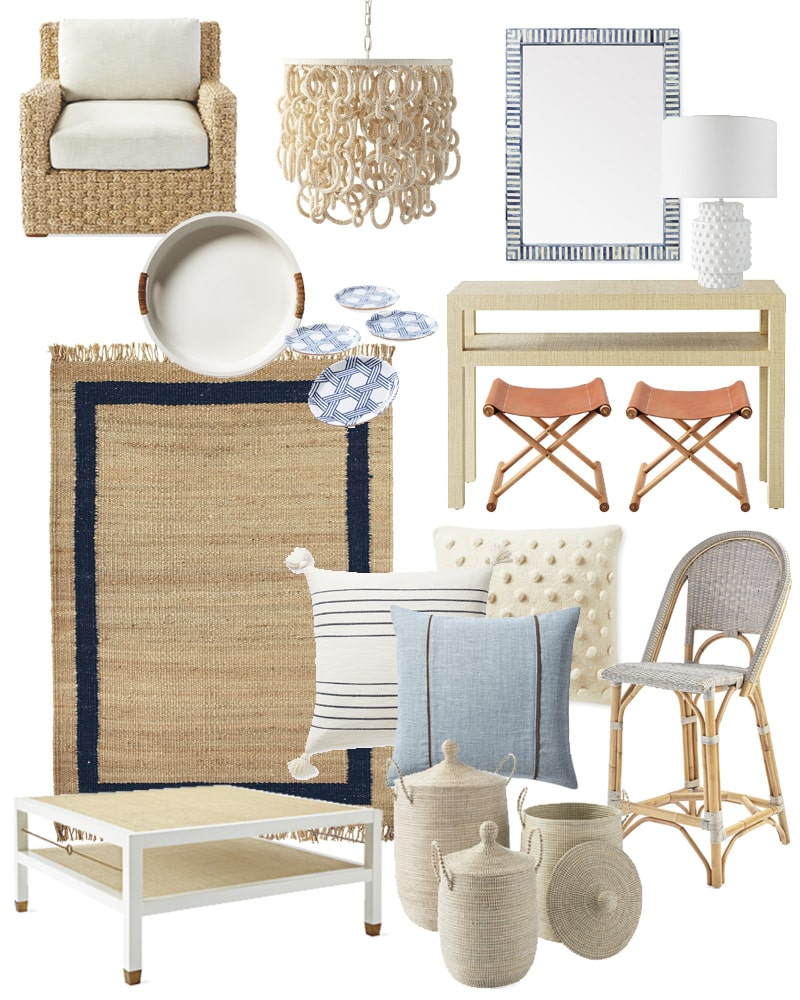 Serena and Lily Sale picks. These Friends & Family sale finds are perfect for coastal inspired home decor!