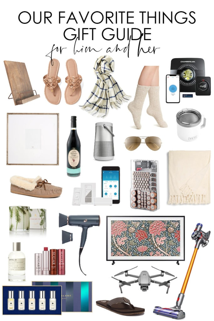 Our Favorite Things Gift Guide graphic.