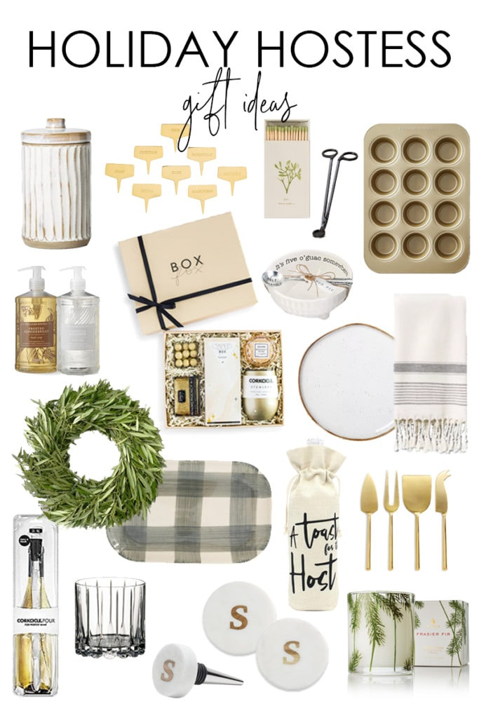 A curated collection of holiday hostess gift ideas. So many cute gift options that also work well for people that love to cook, drink, home decor, hosting, and more!