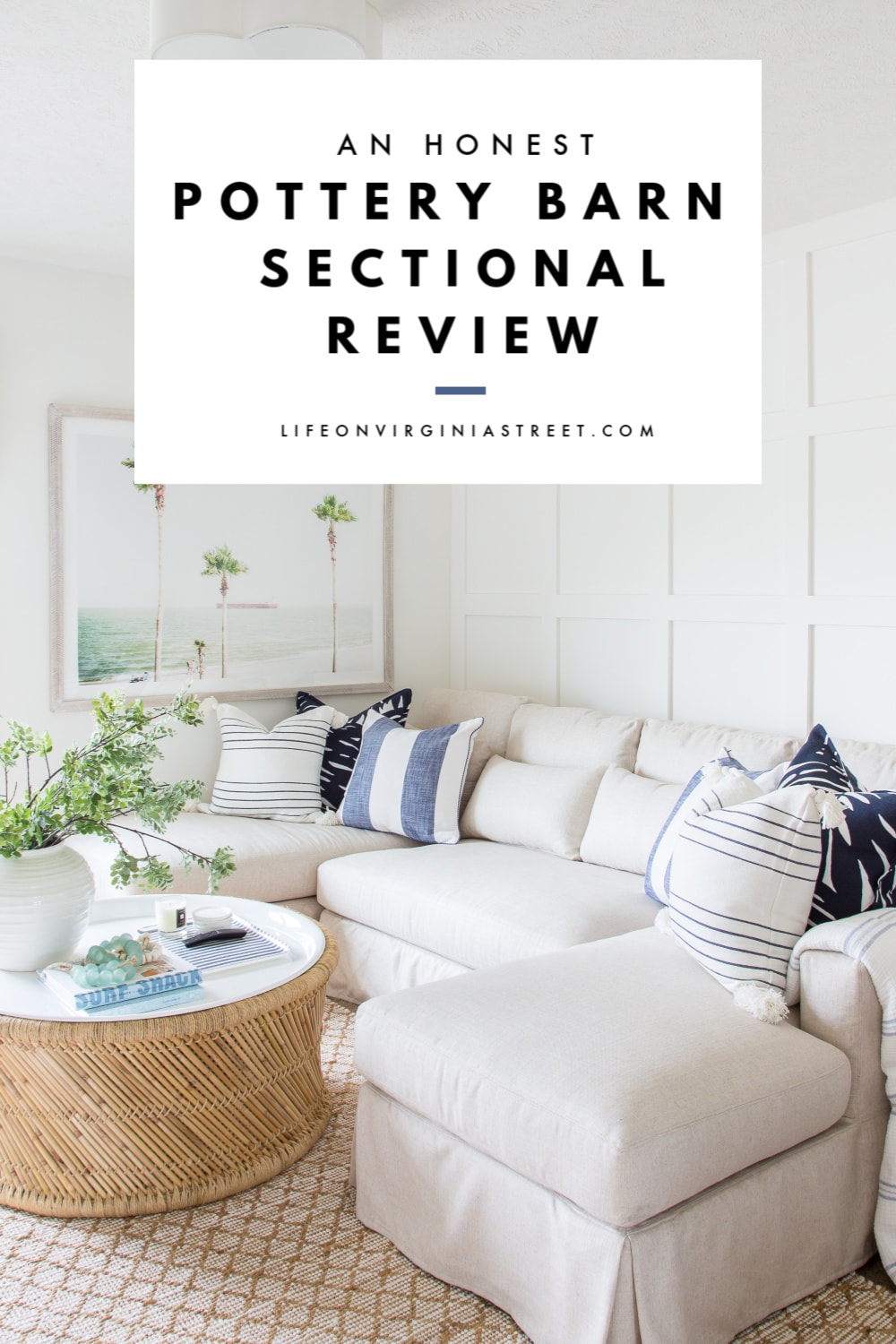 Image of: Pottery Barn Sectional Review Life On Virginia Street