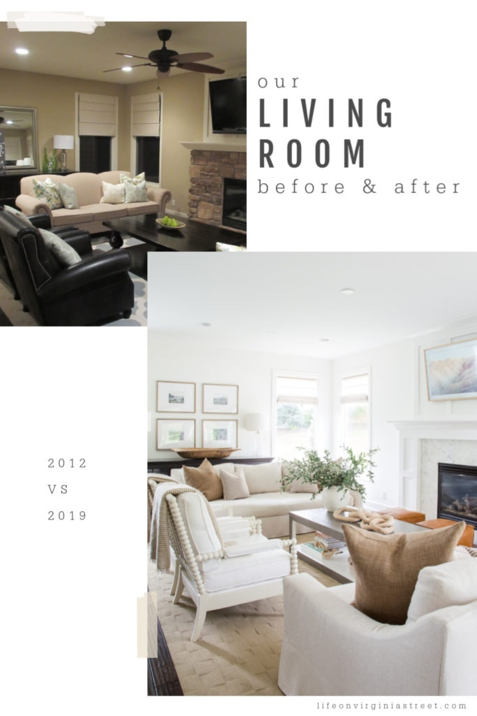 The living room painted a light white with white couches and neutral pillows.