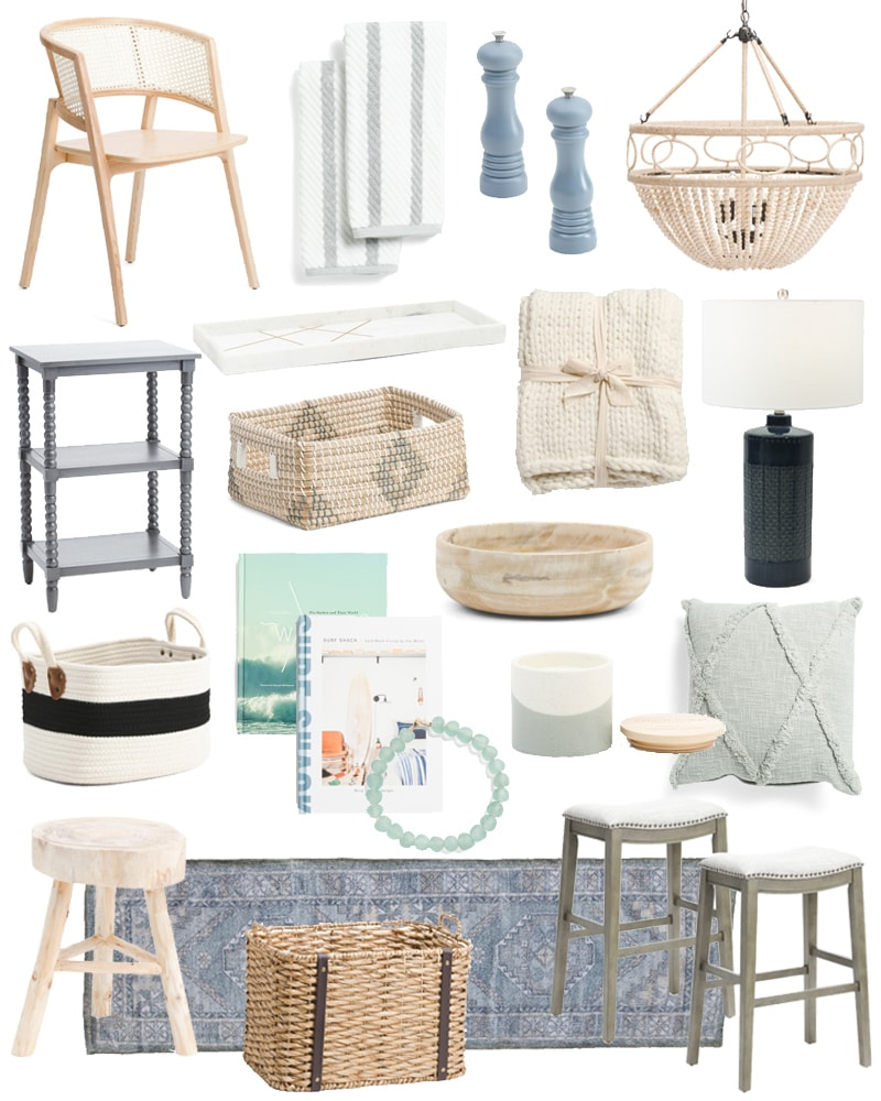 December 2019 TJ Maxx Home Decor finds. These coastal inspired pieces add a designer look to your home at an affordable price!