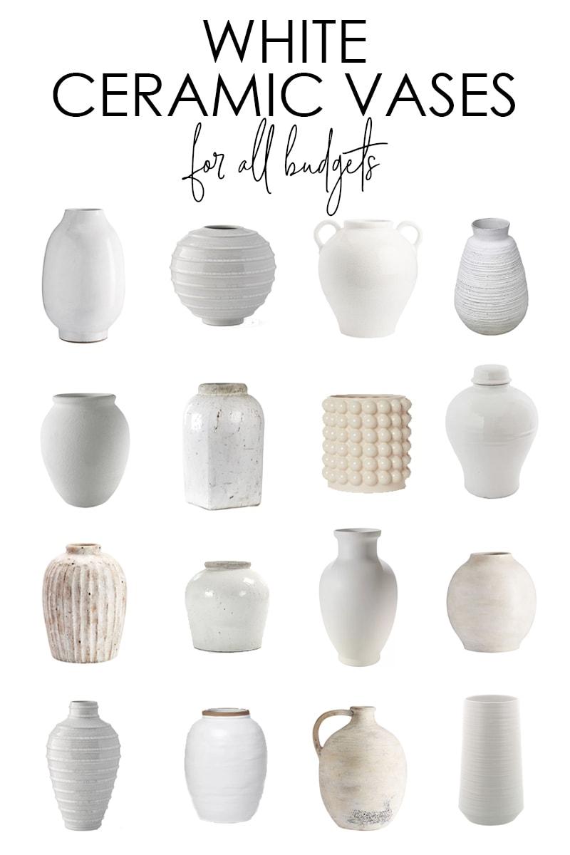 White Ceramic Vase Options Decorating Ideas Life On Virginia Street