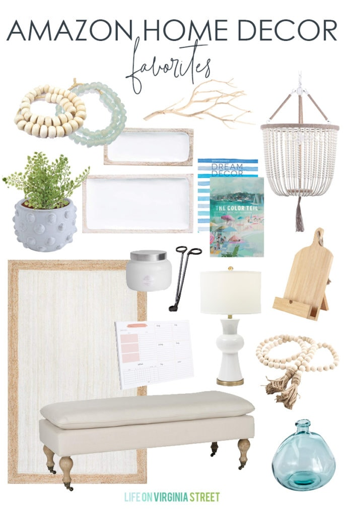 A collection of Amazon Home Decor favorites from around our home! Perfect for a traditional or coastal decorating style!