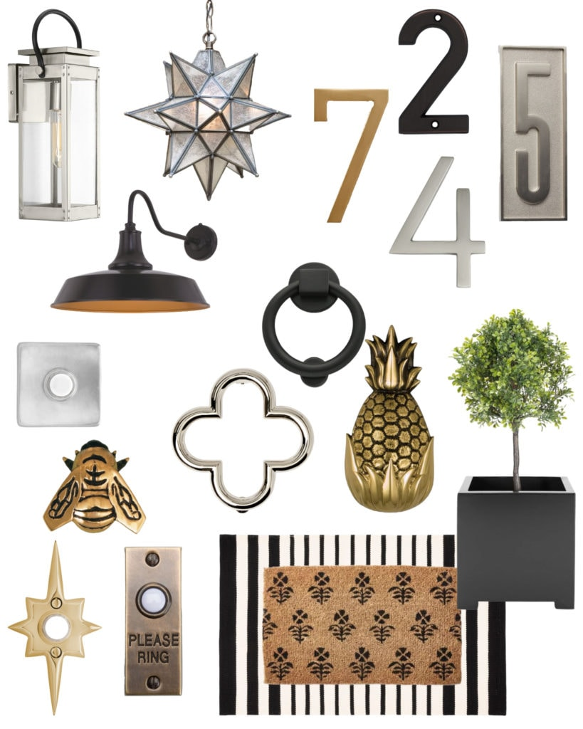 Some hardware and accessories that help to increase your home's curb appeal and add personality to the exterior appearance of your home!