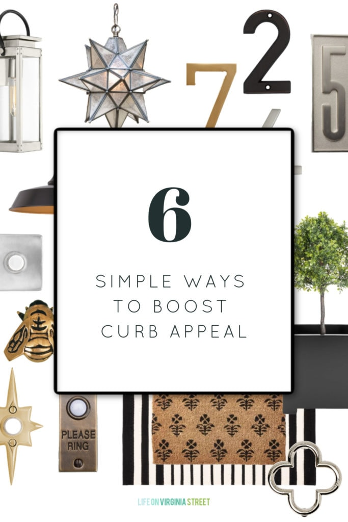 Sharing six simple ways to boost curb appeal for your home! These tips work great if you're selling your home or just want to refresh the look of your home's exterior!
