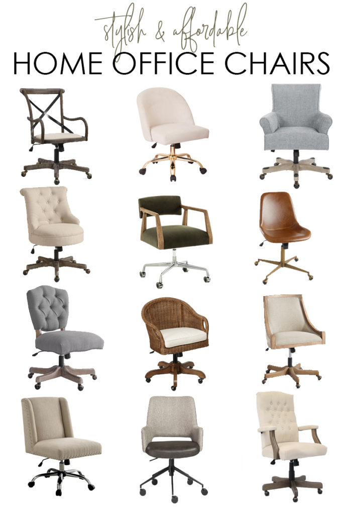 This huge collection of stylish and affordable home office chairs includes rolling chairs as well as stationary desk chairs.