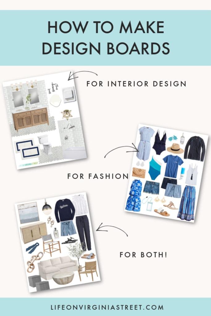 interior design sample board template microsoft