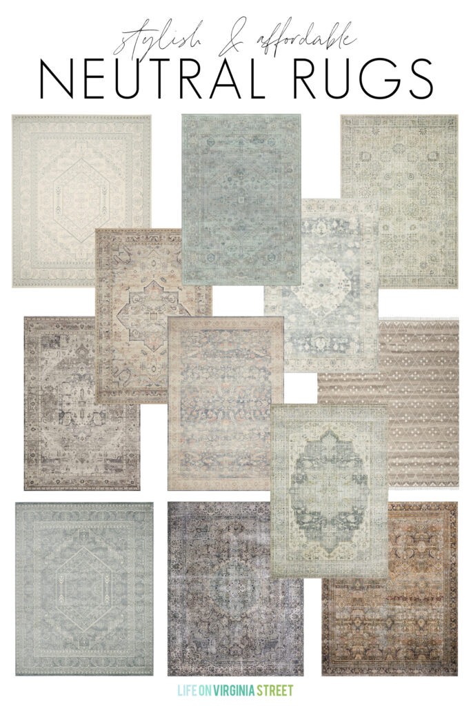 Stylish and affordable neutral rugs.