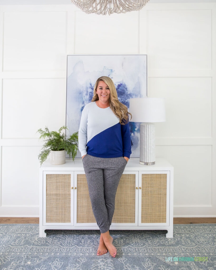 Sharing all the best cozy fall favorites from the 2020 Nordstrom Anniversary Sale! So many great finds like this cozy top and soft joggers!