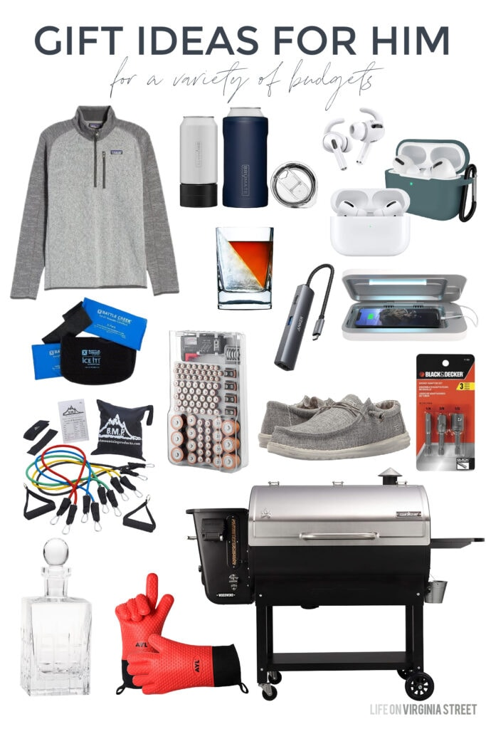 Christmas gift ideas for him that work all year long!
