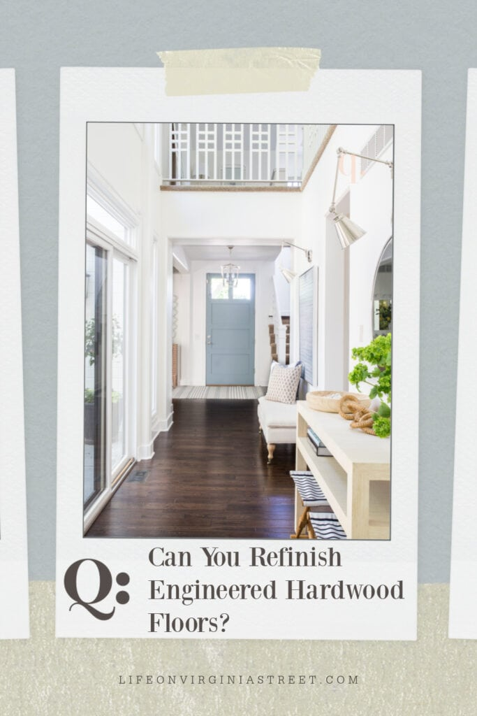 """Answering the question """"can you refinish engineered hardwood floors?"""" in this informative article."""