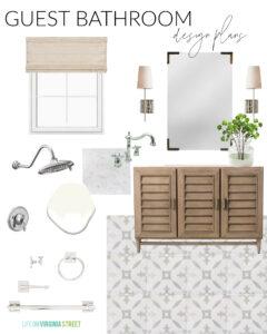 Small Guest Bathroom Design Plans